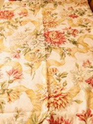 """Floral Panel Curtains 58""""L x 48"""" W Cotton Lined Custom Made"""
