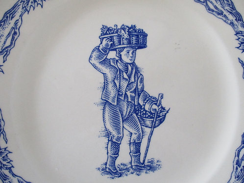 Williams Sonoma~Blue Harvest~England~Baskets Plate