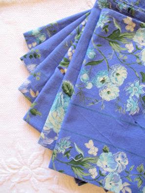 April Cornell Napkins~ Set of 6~ Blue Floral