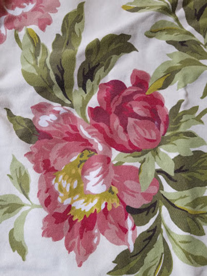 """Pottery Barn Pillow Cover Pair Peonies~21"""" x 22"""""""