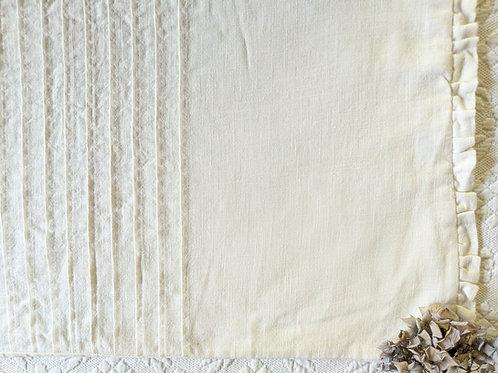 Ikea Vitfjaril White Ruffles Fabric Throw Cushion Cover 16 x 26