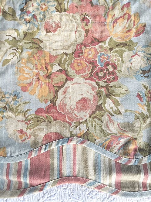 Waverly Spring Bling Floral Striped Valance