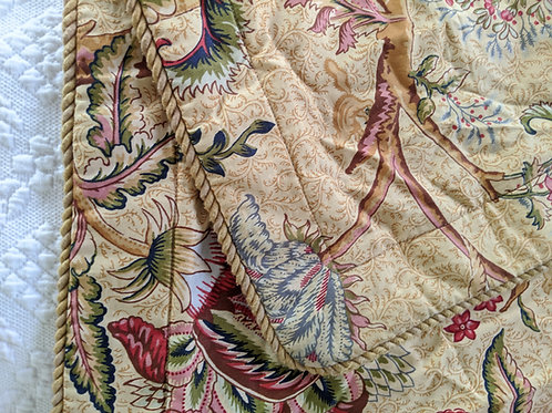 Rose Tree Home Standard Sham Pair~Floral~Piping