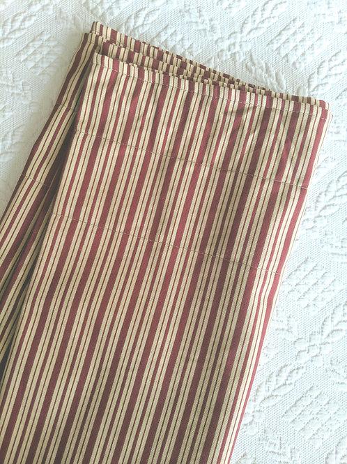 "Waverly Stripe Valance Red Tan 72"" x 17"""