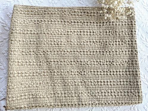 Pottery Barn Honeycomb Standard Pillow Cover Tan