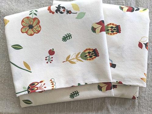Ikea Rosenfibbla Standard Case Pair Scandi Floral