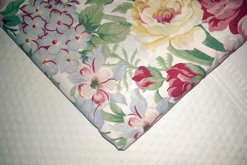 Vintage Floral King Flat Sheet~Lovely!