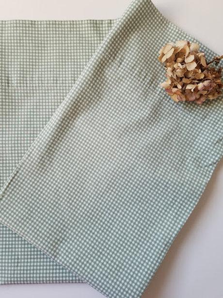 Ralph Lauren Pillow Cases Green Gingham Standard  Cotton