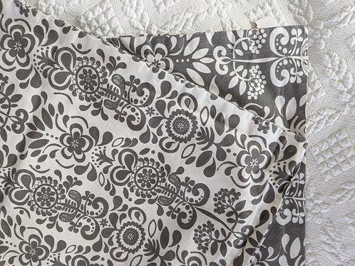 Ikea ÅKERKULLAEuro Pillow Cushion Cover -Pair White Gray