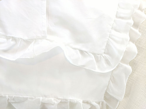 Voile Standard Ruffled Pillow Sham Cotton