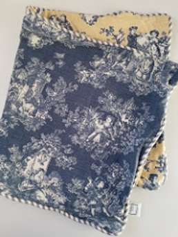 Waverly Toile Sweet Pastimes King Shams Blue Yellow