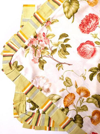 Waverly Williamsburg Custis Garden Floral Shams~ King~Cotton