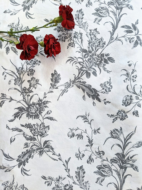 Ikea Alvine Kvist Floral Toile King Duvet Cover Charcoal French Country