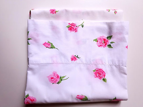 Lady Pepperell Pink Floral Std. Pillowcase Vintage