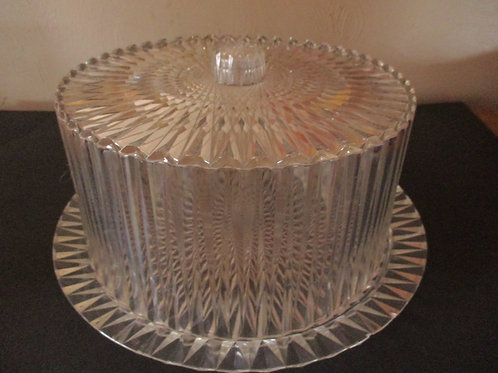 Vintage Lucite Cake Keeper~Mid Century~Partyware