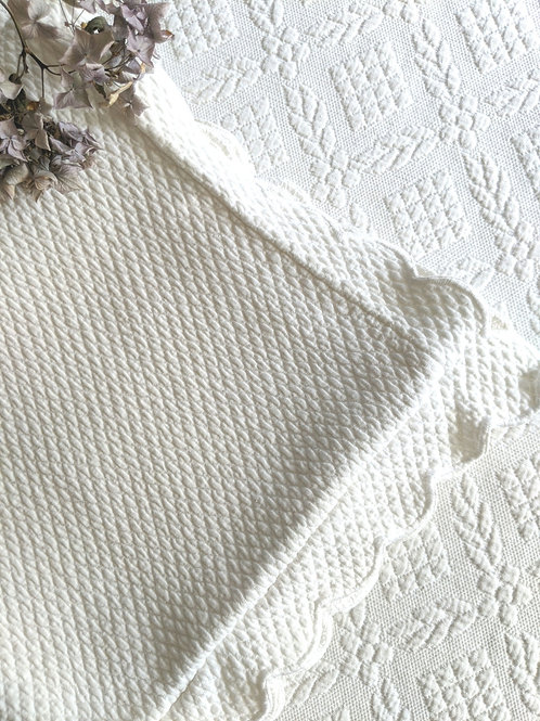 Williams Sonoma Chambers Euro Cream Quilted Scalloped Sham