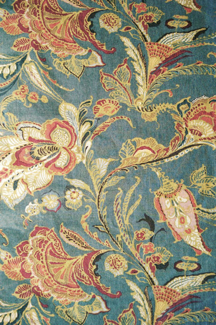 Pottery Barn Preston Palampore Floral King Duvet~Linen/Cotton