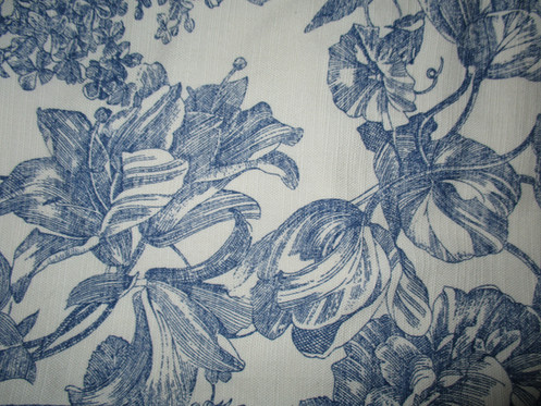 Waverly Valance Pair French Floral Toile Blue