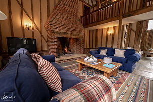 Photograph of the living area on the Barn at Manor Farm Properties