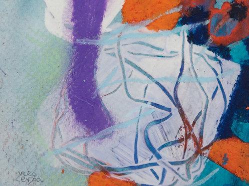 Akvarelbillede Nr. 123, Akvarel, 18 x 12 cm