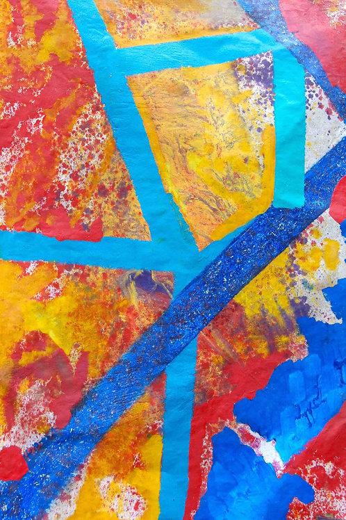 Oliemaleri Nr. 1113, 220 x 150 cm