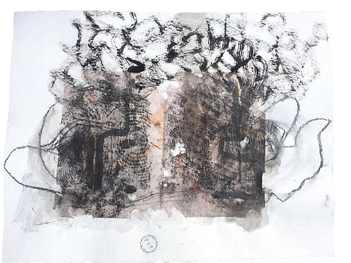 Akvarelbillede Nr. 154, Akvarel, 50 X 65 cm