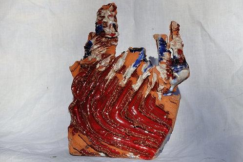 Keramik kunst Nr. 23:  Keramik Figur, 16 x 18 cm