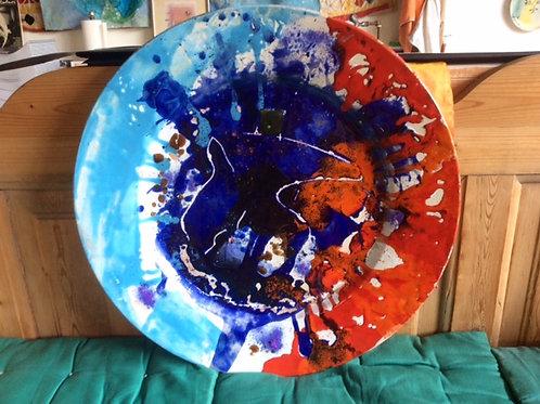Keramik kunst Nr. 39, Keramik fad, Ø 70