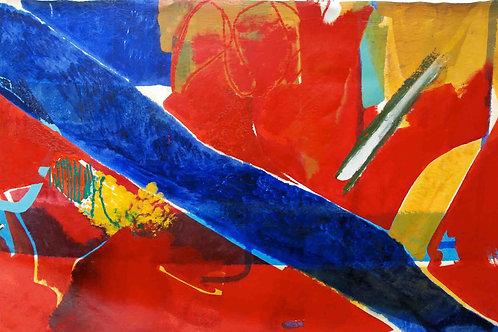Oliemaleri Nr. 1091, 155 x 273 cm