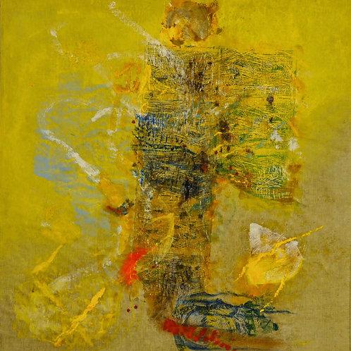 Oliemaleri Nr. 1019, 148 X 151 cm