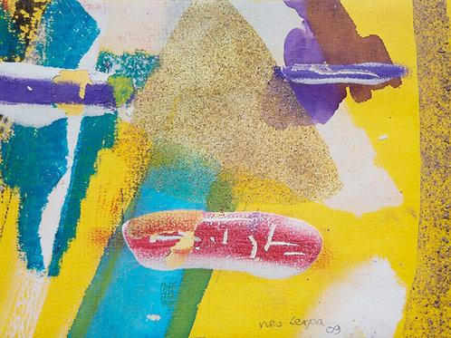 Akvarelbillede Nr. 112, Akvarel, 12 x 18 cm