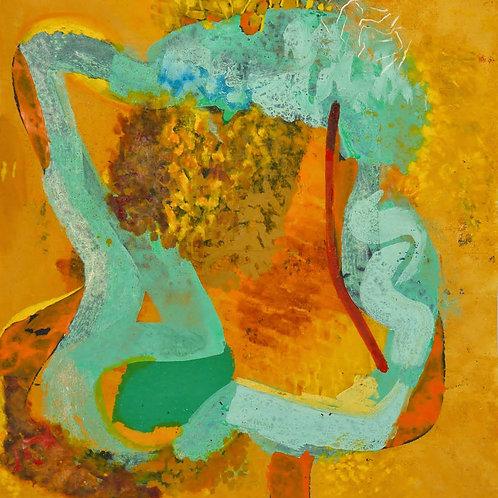 Oliemaleri Nr. 1041, 163 X 143 cm