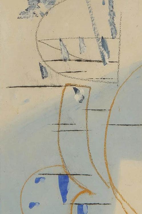 Oliemaleri Nr. 1060, 243 X 80 cm