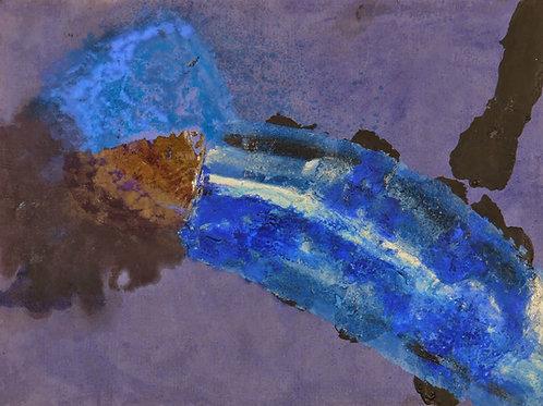 Oliemaleri Nr. 1007, 103 X 140 cm