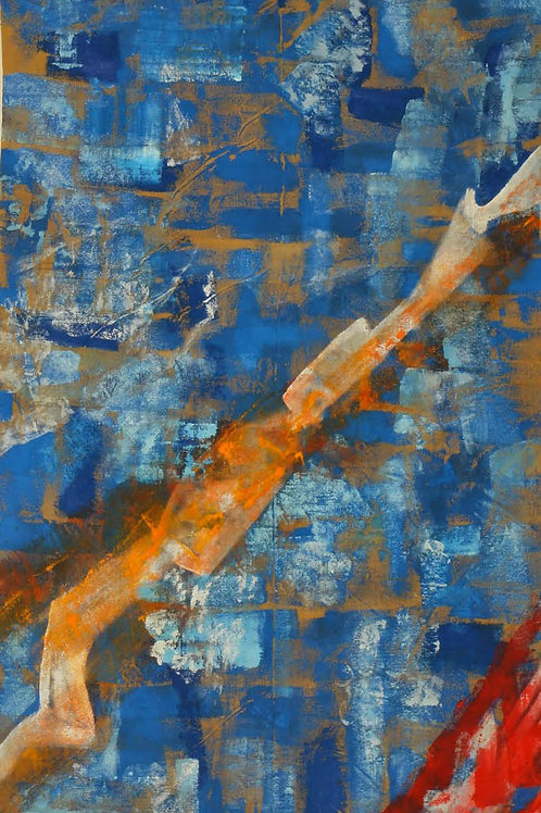 Akrylmaleri Nr. 1074, 380 X 178 cm