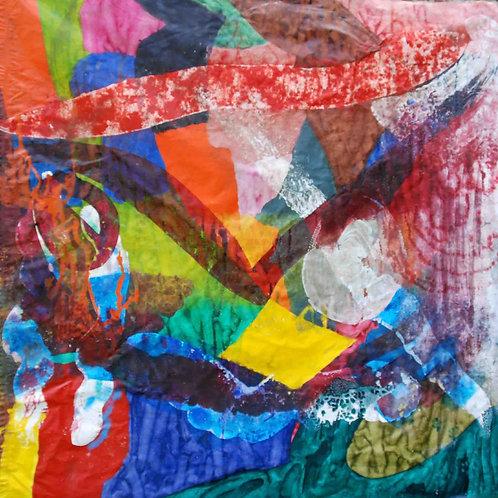 Oliemaleri Nr. 1110, 225 x 230 cm