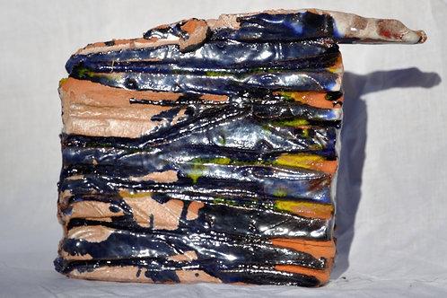 Keramik kunst Nr. 17 Keramik figur, 16 x 18 cm