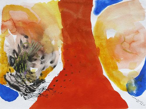 Akvarelbillede Nr. 141, Akvarel, 55 x 75 cm