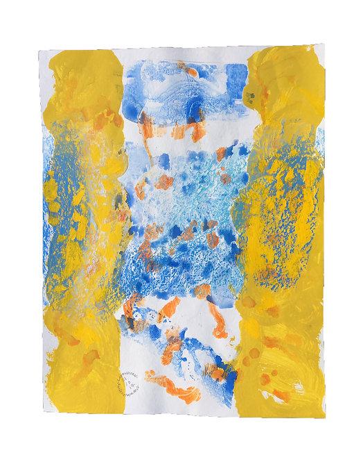 Akvarelbillede Nr. 162, Akvarel, 65 X 50 cm