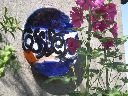 Keramik kunst Nr. 30, Keramik fad, Ø 40