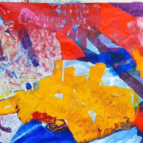 Oliemaleri Nr. 1105, 150 x 230 cm