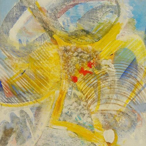 Oliemaleri Nr. 1036, 158 X 148 cm