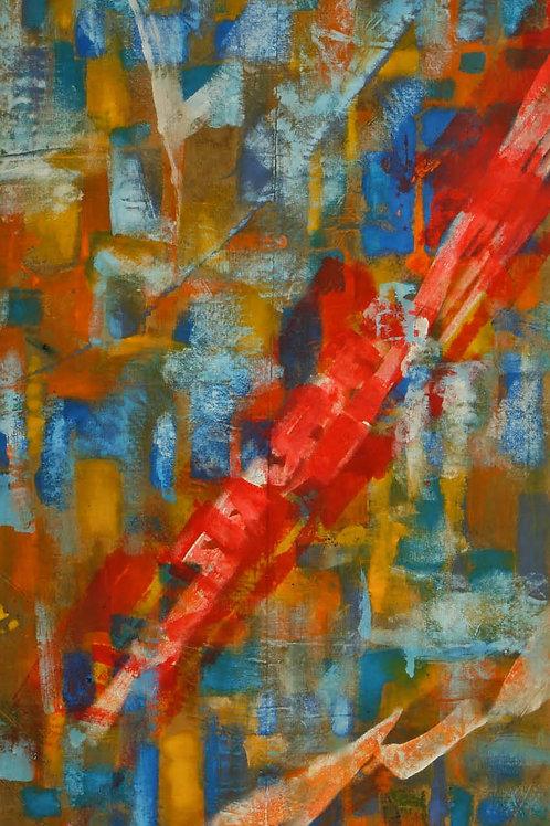 Akrylmaleri Nr. 1075, 380 X 178 cm