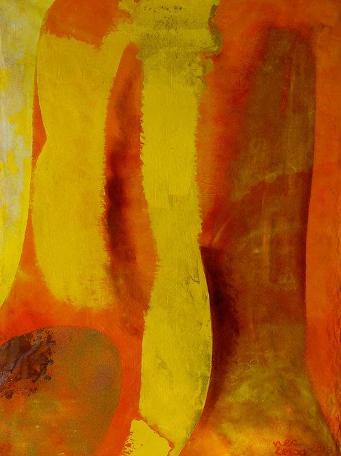 Oliemaleri Nr. 1082, 214 x 160 cm