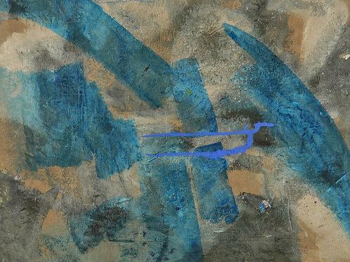 Oliemaleri Nr. 1013, 103 X 149 cm