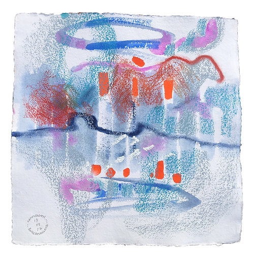 Akvarelbillede Nr. 178, Akvarel, 50 X 50 cm