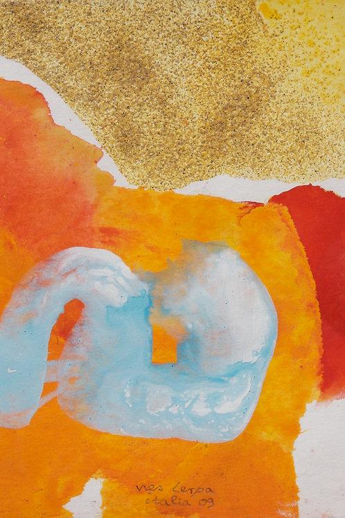 Akvarelbillede Nr. 109, Akvarel, 18 x 12 cm
