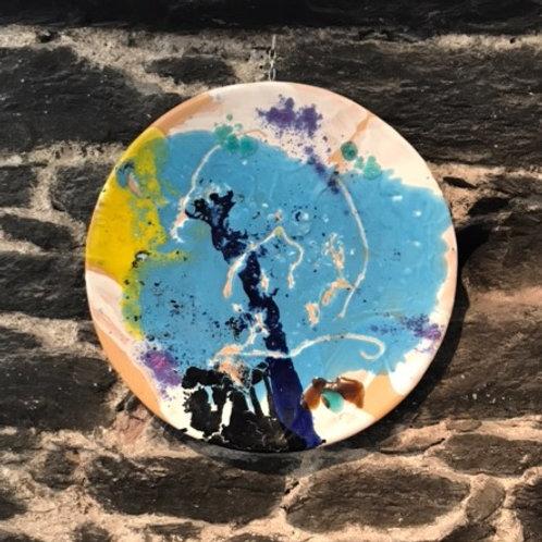 Keramik kunst Nr. 59, Keramik fad, Diameter 35 cm