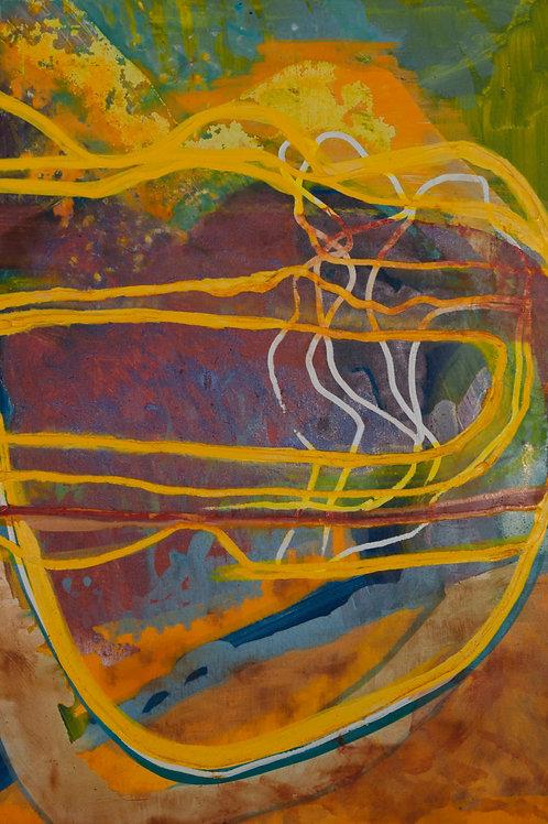 Oliemaleri Nr. IA017, 100x70 cm