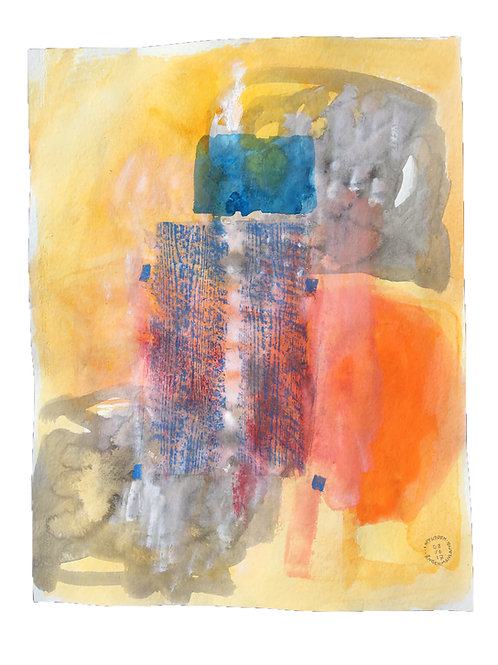 Akvarelbillede Nr. 167, Akvarel, 65 X 50 cm